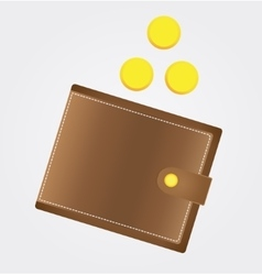 Icon purse with coins stock vector