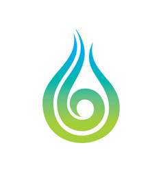 Abstract swirl water drop logo vector