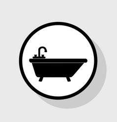 Bathtub sign flat black icon vector
