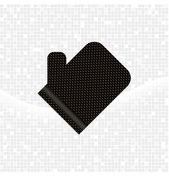 black textured glove kese on grey mosaic vector image vector image