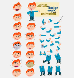 busibessman template for design work and animation vector image