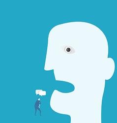 Business man listen vector image