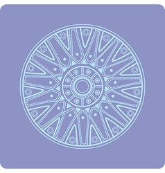Celtic circular geometric floral ornament vector