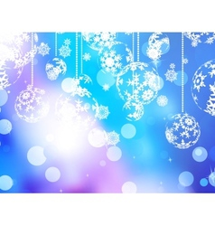 Elegant blue christmas background eps 10 vector