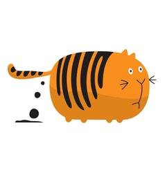 Fat shitting cat vector