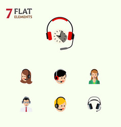 Flat telemarketing set of operator service call vector