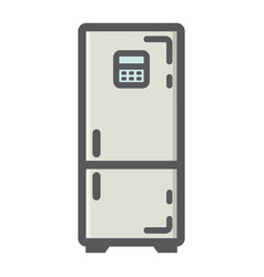 Fridge colorful line icon refrigerator vector