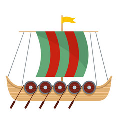 Galleon icon flat style vector