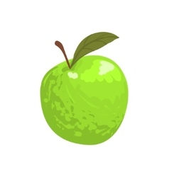 Green garden apple funky hand drawn fresh fruit vector