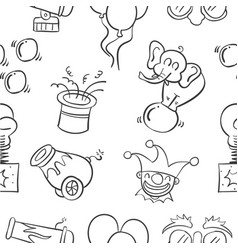 Hand draw circus element doodles vector