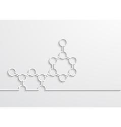 Modern chemical element design background vector
