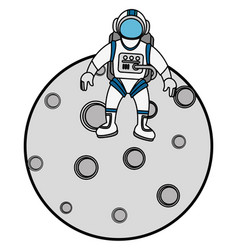 moon satellite isolated icon vector image
