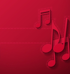 Music notes on maroon background vector