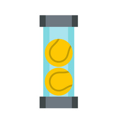 Packaging of tennis balls icon flat style vector