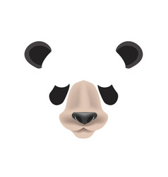 Panda animal face filter template video chat photo vector