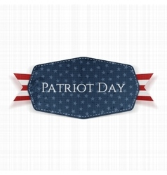 Patriot day text on label with ribbon vector
