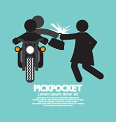 Pickpocket On Motorcycle With The Victim vector image
