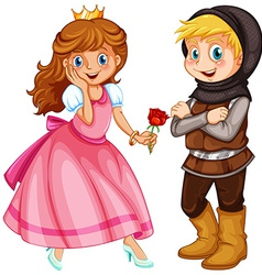 Princess and Knight vector image vector image