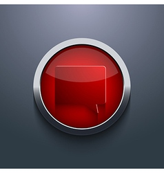 red circle button Eps10 vector image