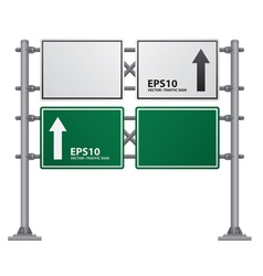 road Signs green vector image vector image