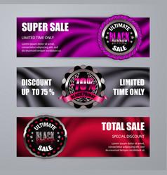 Set of black friday labels vector