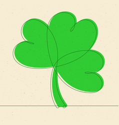 shamrock continuous line vector image vector image