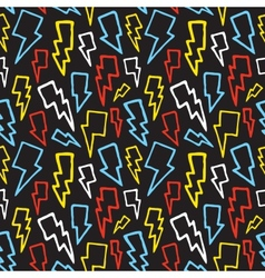 Thunder bolts seamless pattern vector image