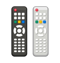 TV Remote Control in Black and White Design vector image