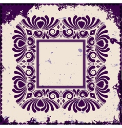 Vintage frame on grunge background vector image vector image