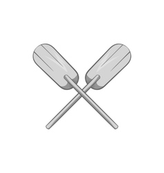 Paddles icon black monochrome style vector