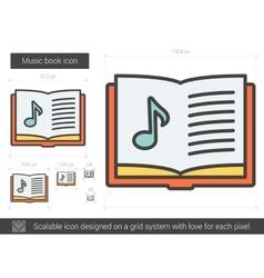 Music book line icon vector