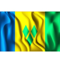Flag of saint vincent and the grenadines vector