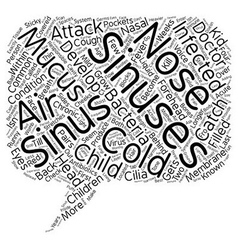 Sinus and sinus attack in children 1 text vector