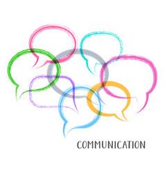Communication concept vector