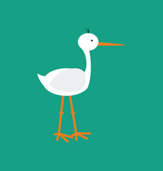 Stork bird vector