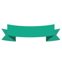 Ribbon emblem blank vector