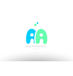 Aaaaa alphabet letter blue green logo icon design vector