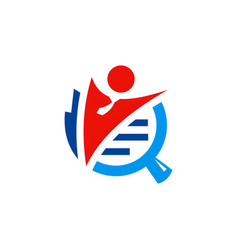 business man job search logo vector image