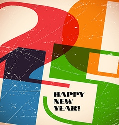 Retro card with 2015 sign on scratched paper vector image