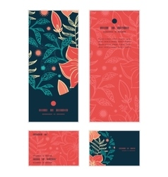Vibrant tropical hibiscus flowers vertical vector