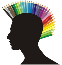 Punk of colored pencils vector