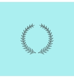 Laurel wreaths set isolated vector