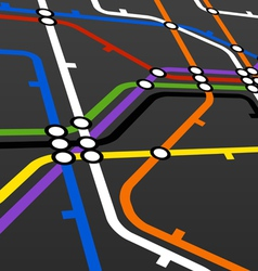 Metro scheme on black vector