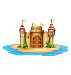 A castle in the island vector