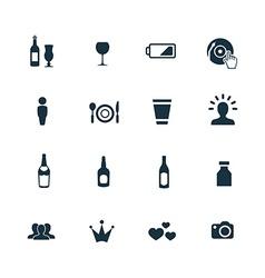 bar icons set vector image