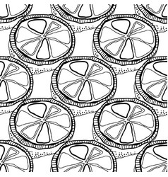 Black and white lemons for coloring books vector