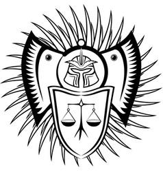 Black symbol of law vector