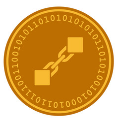 Blockchain digital coin vector