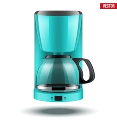 Coffee maker with glass pot vector image