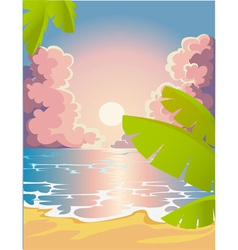 Evening beach vector image